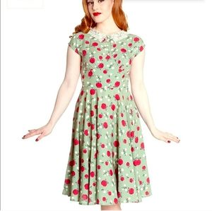 Hell Bunny Apple Dress Sage